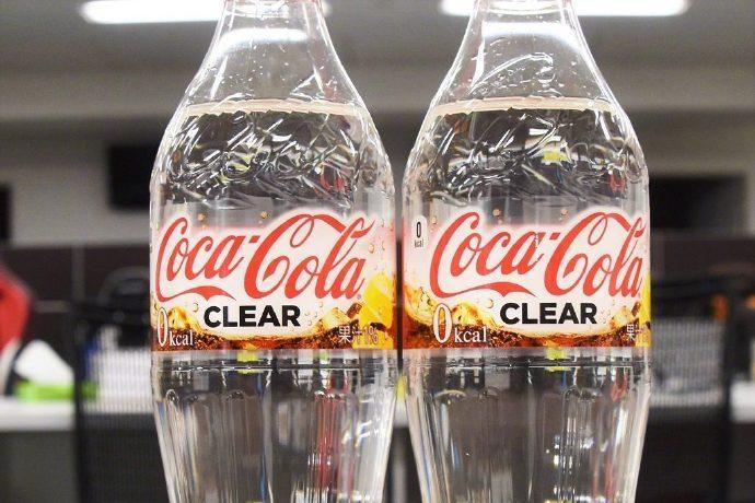 日本可口可乐宣布今个月将推出 柠檬汁味的透明可口可乐。。。