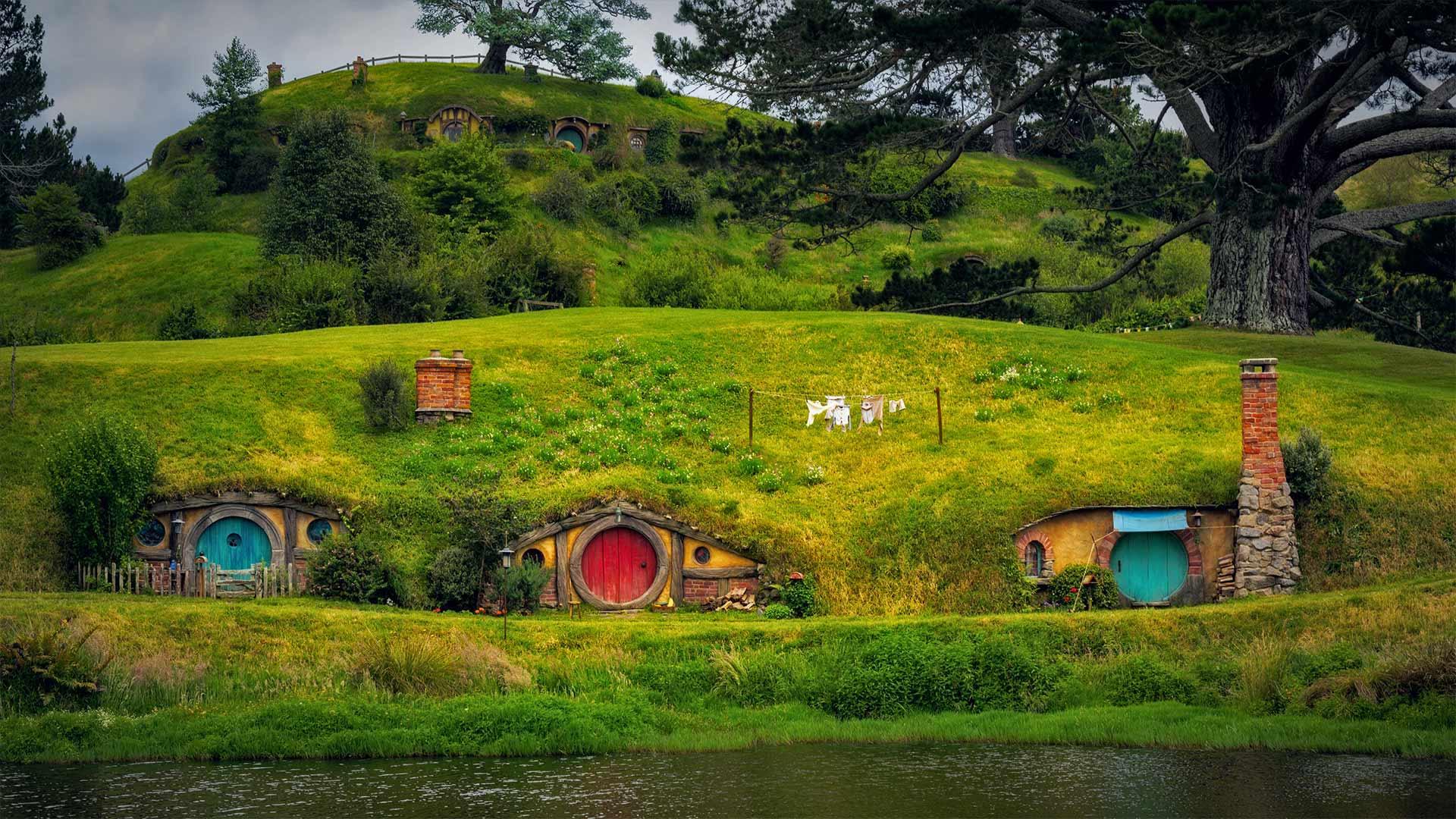 马塔马塔附近的霍比特人村,新西兰北岛