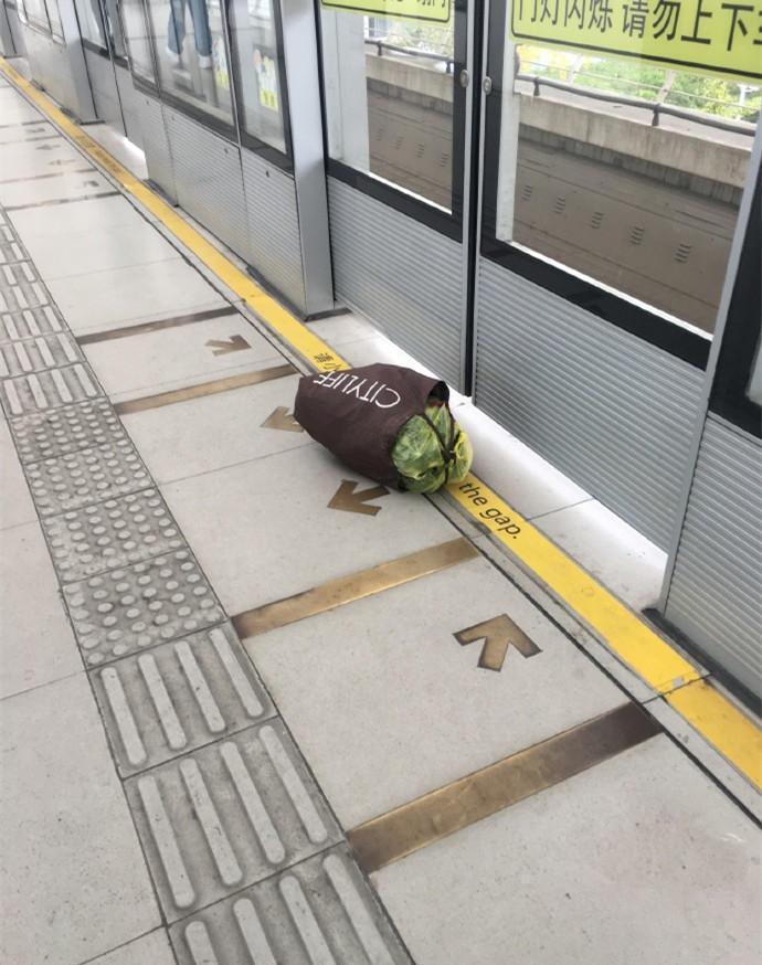 谁的菜没有挤上地铁