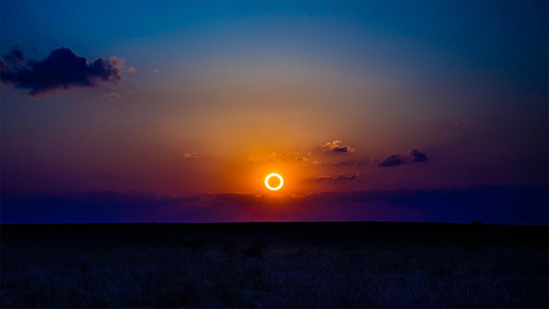2012年5月20日新墨西哥上空的日环食